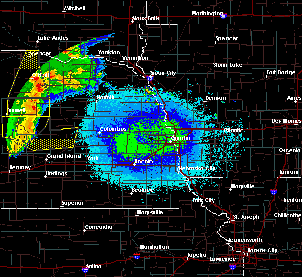 Radar Image for Severe Thunderstorms near Raeville, NE at 5/24/2020 1:59 AM CDT