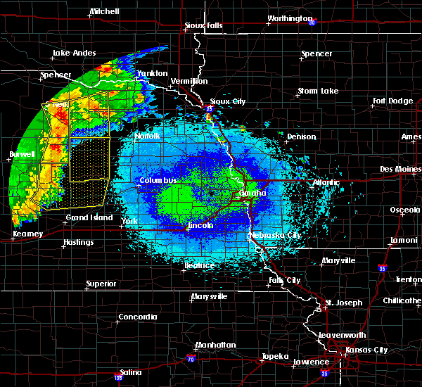 Radar Image for Severe Thunderstorms near Verdigre, NE at 5/24/2020 2:19 AM CDT