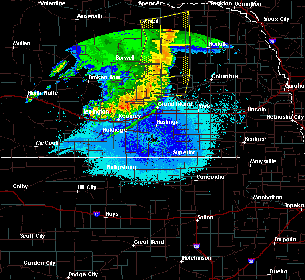 Radar Image for Severe Thunderstorms near Clarks, NE at 5/24/2020 2:24 AM CDT