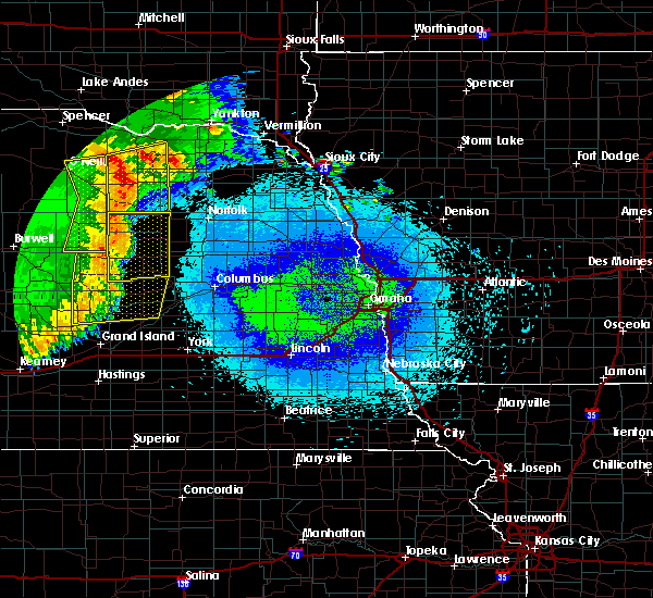 Radar Image for Severe Thunderstorms near Clarks, NE at 5/24/2020 2:32 AM CDT