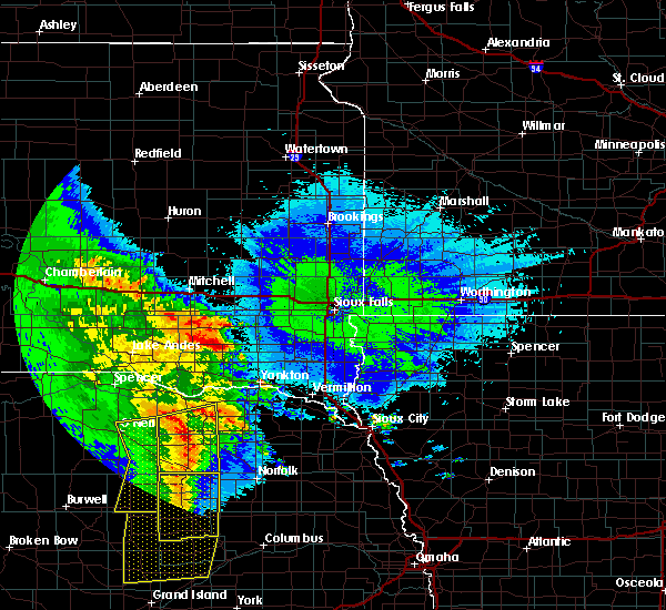 Radar Image for Severe Thunderstorms near Aten, NE at 5/24/2020 2:36 AM CDT
