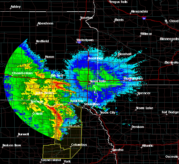 Radar Image for Severe Thunderstorms near Pierce, NE at 5/24/2020 2:53 AM CDT