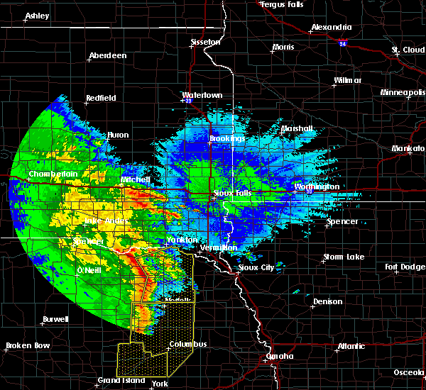 Radar Image for Severe Thunderstorms near Aten, NE at 5/24/2020 3:06 AM CDT