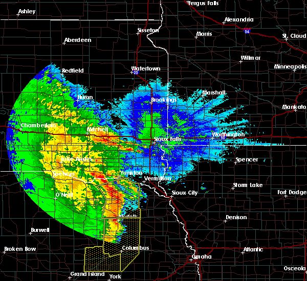 Radar Image for Severe Thunderstorms near Crofton, NE at 5/24/2020 3:16 AM CDT