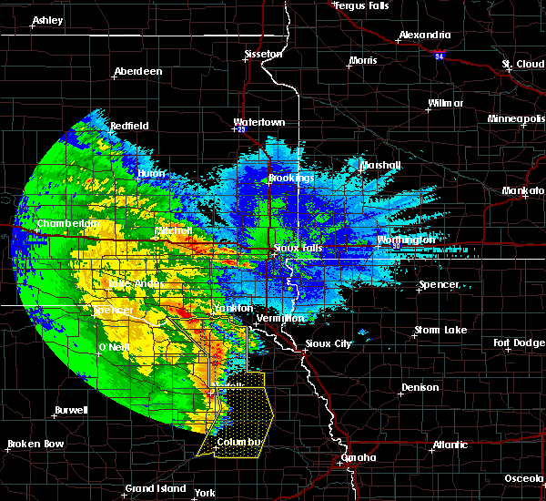 Radar Image for Severe Thunderstorms near Martinsburg, NE at 5/24/2020 3:28 AM CDT