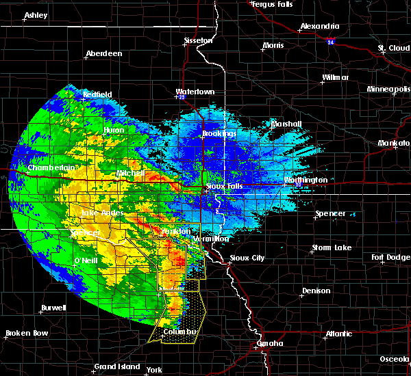 Radar Image for Severe Thunderstorms near Winside, NE at 5/24/2020 3:40 AM CDT