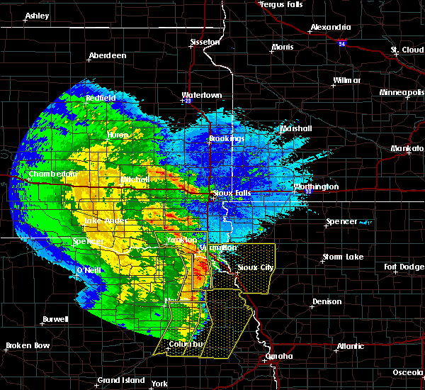 Radar Image for Severe Thunderstorms near North Sioux City, SD at 5/24/2020 3:53 AM CDT
