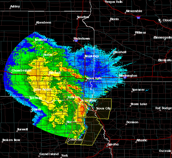 Radar Image for Severe Thunderstorms near Martinsburg, NE at 5/24/2020 4:01 AM CDT