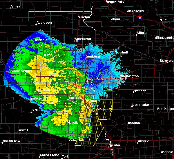 Radar Image for Severe Thunderstorms near North Sioux City, SD at 5/24/2020 4:12 AM CDT