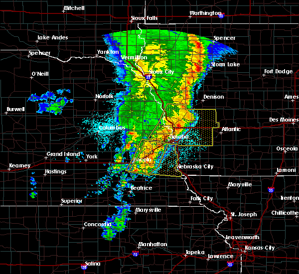 Radar Image for Severe Thunderstorms near Bartlett, IA at 5/24/2020 5:50 AM CDT