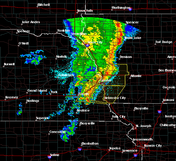 Radar Image for Severe Thunderstorms near Syracuse, NE at 5/24/2020 5:54 AM CDT
