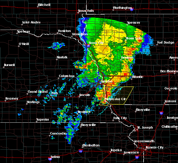 Radar Image for Severe Thunderstorms near Thurman, IA at 5/24/2020 6:41 AM CDT