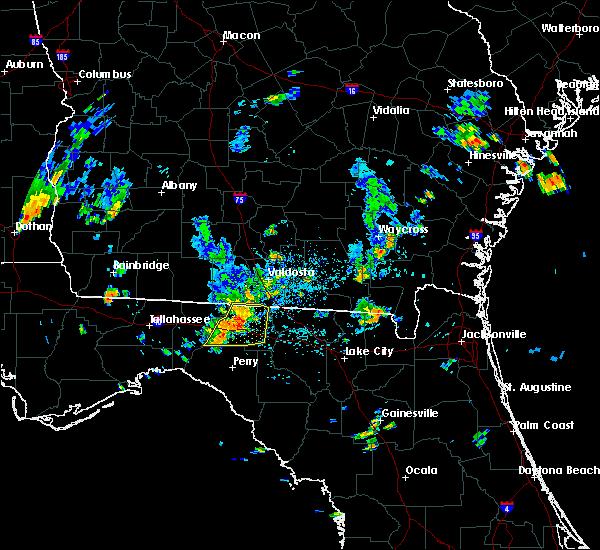 Radar Image for Severe Thunderstorms near Madison, FL at 6/27/2015 4:32 PM EDT