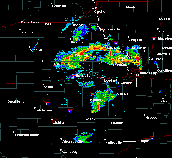 Radar Image for Severe Thunderstorms near Pawnee City, NE at 5/24/2020 2:28 PM CDT
