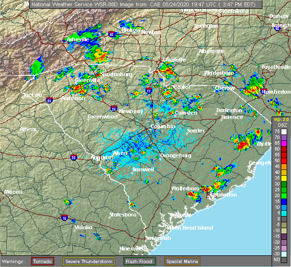 Radar Image for Severe Thunderstorms near Charlotte, NC at 5/24/2020 3:51 PM EDT