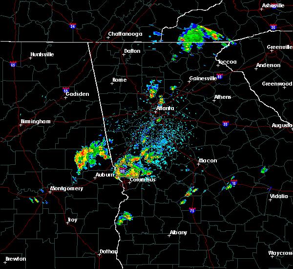 Radar Image for Severe Thunderstorms near Molena, GA at 5/24/2020 3:55 PM EDT