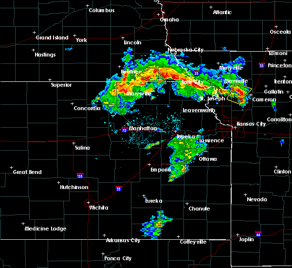 Radar Image for Severe Thunderstorms near Pawnee City, NE at 5/24/2020 2:58 PM CDT