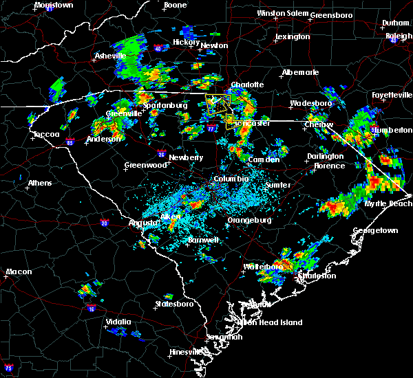 Radar Image for Severe Thunderstorms near Charlotte, NC at 5/24/2020 4:25 PM EDT