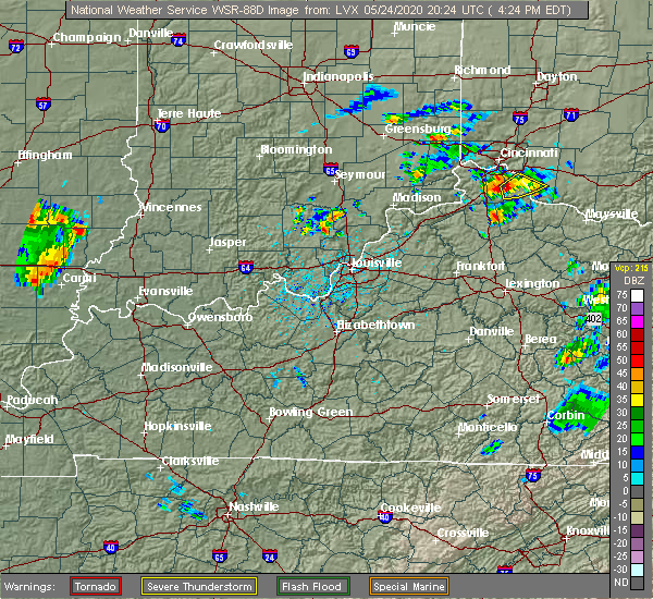 Radar Image for Severe Thunderstorms near Little York, IN at 5/24/2020 4:28 PM EDT