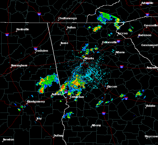 Radar Image for Severe Thunderstorms near Cumming, GA at 5/24/2020 4:31 PM EDT
