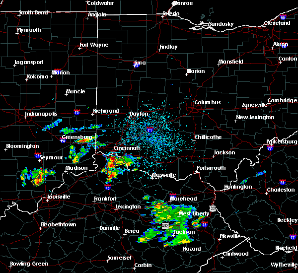 Radar Image for Severe Thunderstorms near Mariemont, OH at 5/24/2020 4:45 PM EDT