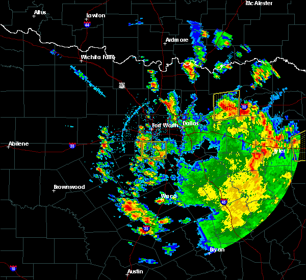 Radar Image for Severe Thunderstorms near Lone Oak, TX at 5/24/2020 3:46 PM CDT