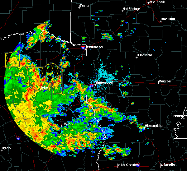 Radar Image for Severe Thunderstorms near Gladewater, TX at 5/24/2020 3:46 PM CDT