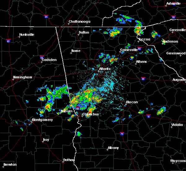 Radar Image for Severe Thunderstorms near Molena, GA at 5/24/2020 4:49 PM EDT