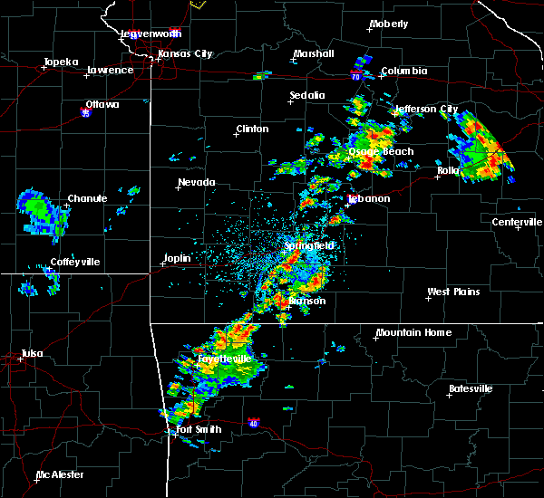 Radar Image for Severe Thunderstorms near Springfield, MO at 5/24/2020 3:53 PM CDT