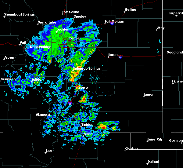 Radar Image for Severe Thunderstorms near Fountain, CO at 5/24/2020 2:56 PM MDT