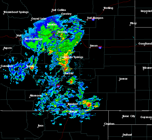 Radar Image for Severe Thunderstorms near Pueblo, CO at 5/24/2020 3:15 PM MDT