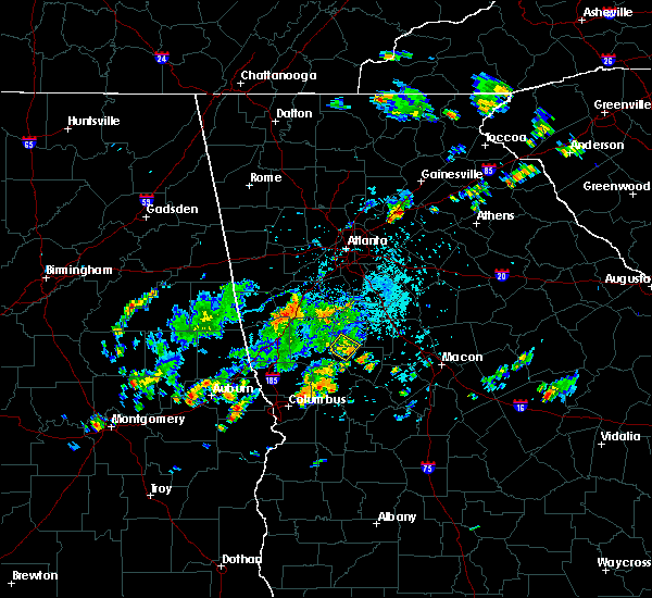 Radar Image for Severe Thunderstorms near Chattahoochee Hills, GA at 5/24/2020 5:22 PM EDT