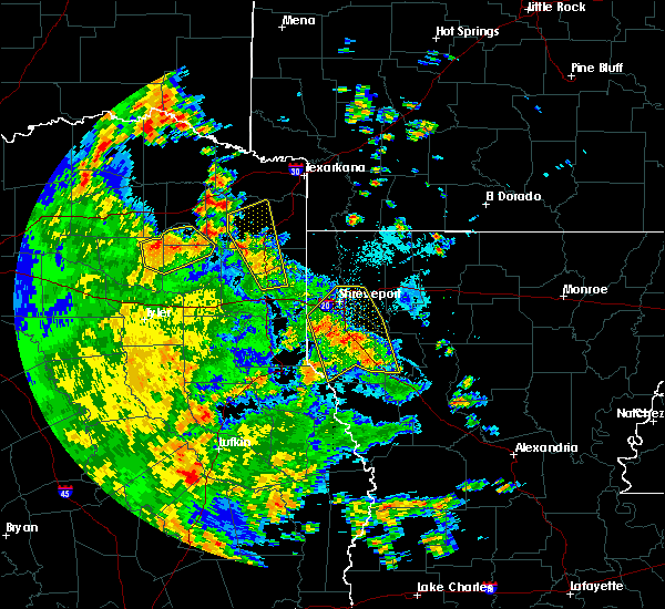 Radar Image for Severe Thunderstorms near Hughes Springs, TX at 5/24/2020 4:30 PM CDT