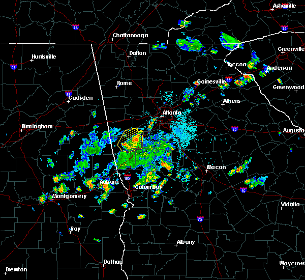 Radar Image for Severe Thunderstorms near Chattahoochee Hills, GA at 5/24/2020 5:44 PM EDT