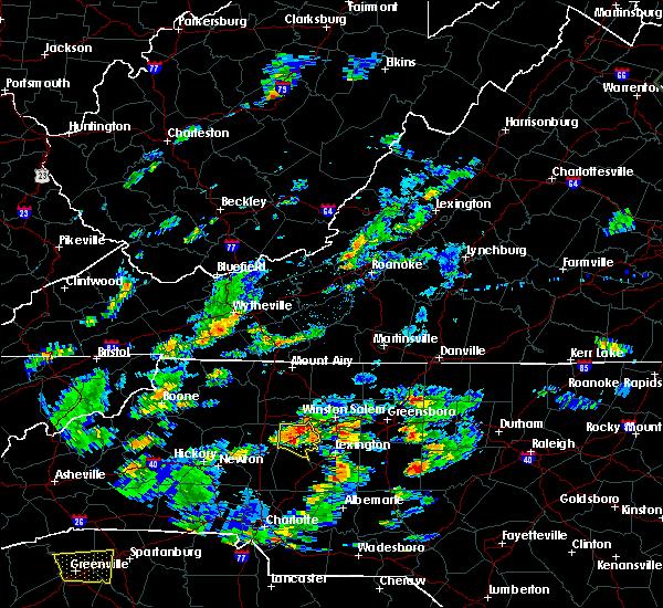 Radar Image for Severe Thunderstorms near Reidsville, NC at 6/27/2015 4:45 PM EDT
