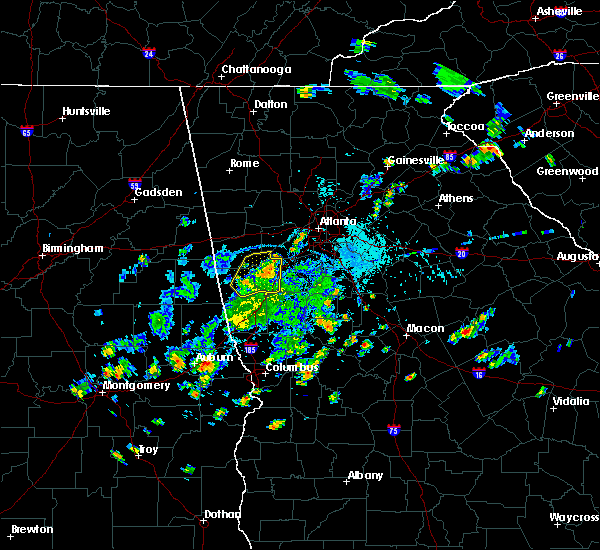 Radar Image for Severe Thunderstorms near Chattahoochee Hills, GA at 5/24/2020 5:54 PM EDT