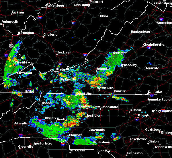 Radar Image for Severe Thunderstorms near Landis, NC at 5/24/2020 6:11 PM EDT