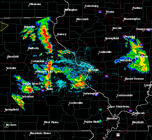 Radar Image for Severe Thunderstorms near La Grange, MO at 5/24/2020 5:21 PM CDT