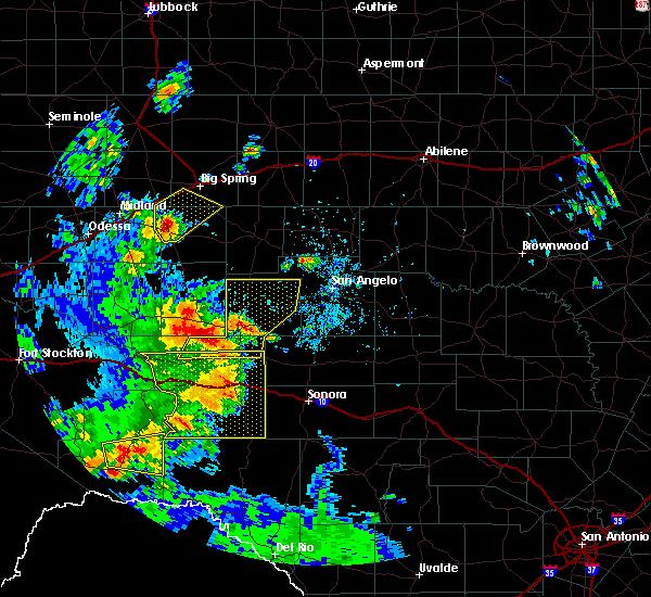 Radar Image for Severe Thunderstorms near Big Lake, TX at 5/24/2020 5:35 PM CDT