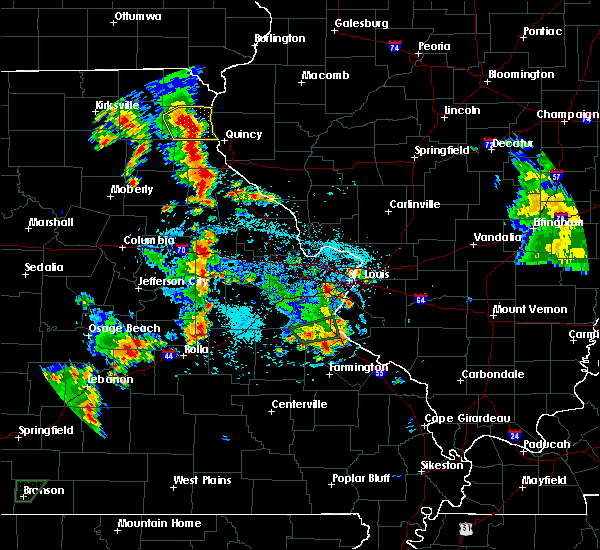 Radar Image for Severe Thunderstorms near La Grange, MO at 5/24/2020 5:39 PM CDT