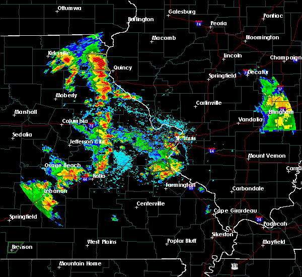 Radar Image for Severe Thunderstorms near La Grange, MO at 5/24/2020 5:47 PM CDT