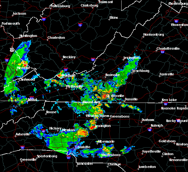 Radar Image for Severe Thunderstorms near Horse Pasture, VA at 5/24/2020 6:52 PM EDT