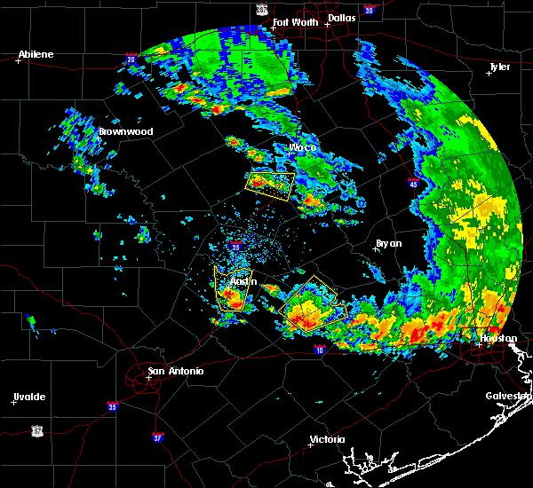 Radar Image for Severe Thunderstorms near McGregor, TX at 5/24/2020 6:09 PM CDT