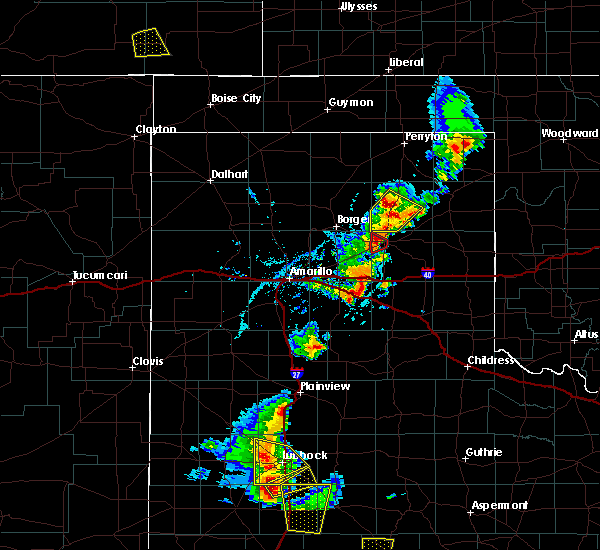 Radar Image for Severe Thunderstorms near Skellytown, TX at 5/24/2020 6:11 PM CDT
