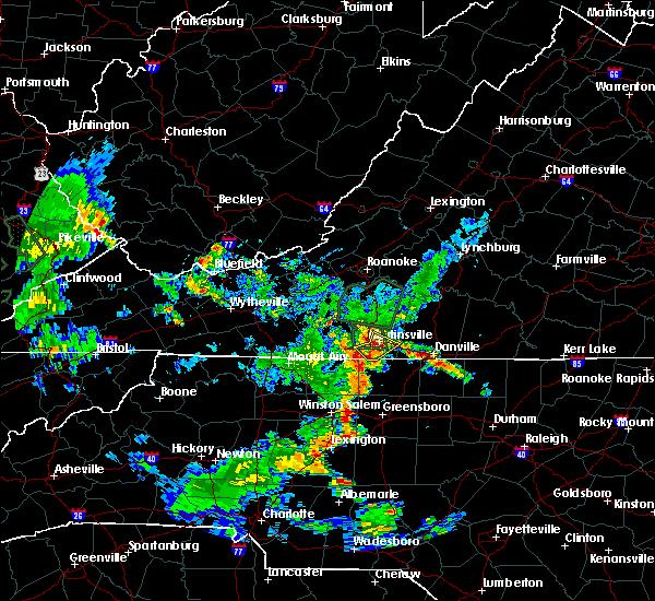 Radar Image for Severe Thunderstorms near Chatmoss, VA at 5/24/2020 7:14 PM EDT