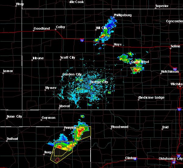 Radar Image for Severe Thunderstorms near Follett, TX at 5/24/2020 6:14 PM CDT