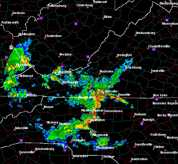 Radar Image for Severe Thunderstorms near Horse Pasture, VA at 5/24/2020 7:14 PM EDT