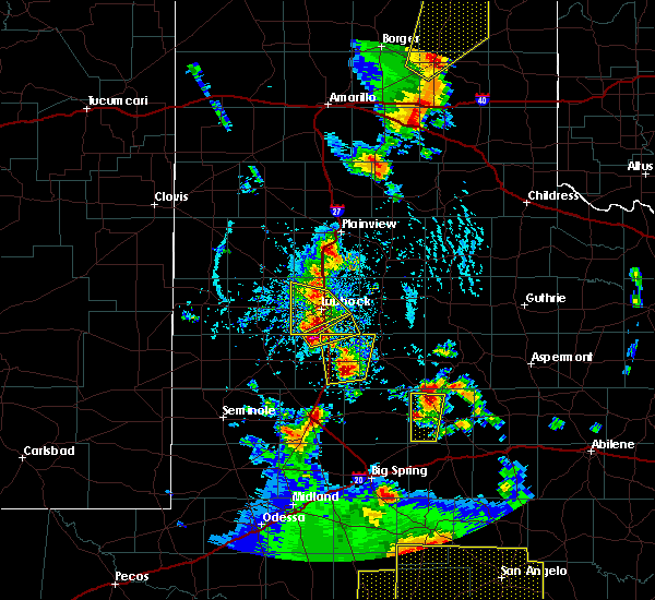 Radar Image for Severe Thunderstorms near Slaton, TX at 5/24/2020 6:23 PM CDT
