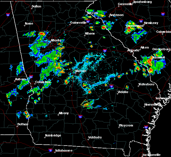 Radar Image for Severe Thunderstorms near Cochran, GA at 5/24/2020 7:31 PM EDT