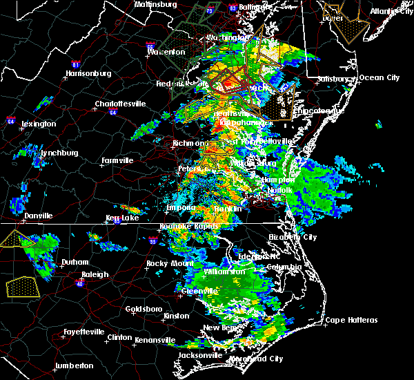 Radar Image for Severe Thunderstorms near New Kent, VA at 6/27/2015 5:01 PM EDT